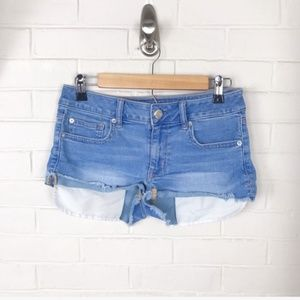 {American Eagle} Shortie Cut Off Denim Shorts